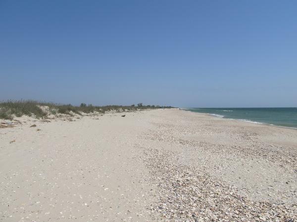 Пустынный пляж в мае на курорте Катранка 3