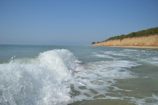 Море, пляж, дельфины на курорте Лебедевка